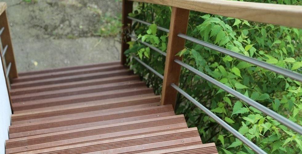 escalier d'exterieur sur mesure à angers