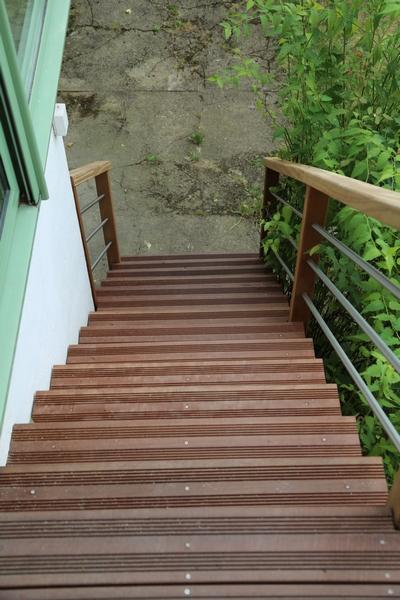 marches d'escalier en bois